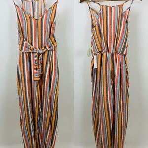 Hummingbird Boutique Striped Jumpsuit New Large